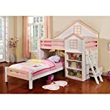 Product review for Citadel House Design White & Pink Finish Dual Twin Size Loft Bed Set