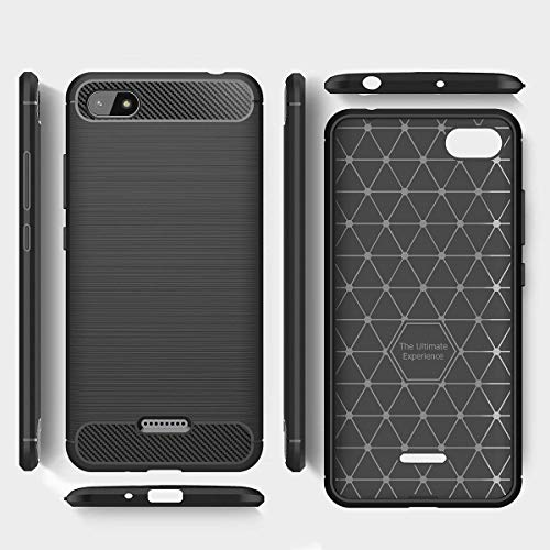 Explocart Premium 360* Protection Designed Soft Rubberised Rugged Armor TPU Back Case Cover for Xiaomi Redmi 6A -Black 4