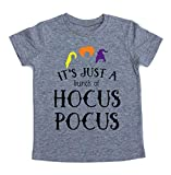 EGELEXY It's Just A Bunch of Hocus Pocus Halloween T Shirt Toddler Boys Girls Sanderson Sister Graphic Print Tee Shirts Size 3-4Years/Tag120 (Gray)