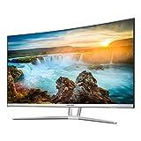 VIOTEK NB32CW 32-Inch LED Curved Professional Monitor, Bezel-Less Samsung VA Panel, 75Hz 1080P Full-HD FreeSync VGA HDMI VESA, Updated Version (White)
