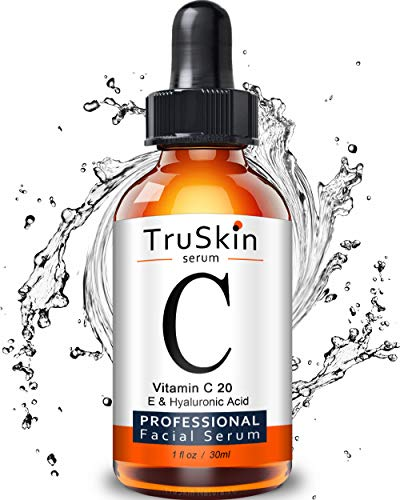 TruSkin Vitamin C Serum for Face, Topical Facial Serum with Hyaluronic Acid & Vitamin E