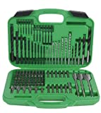 Hitachi 799962 120 Piece Drill Bit and Screwdriver Set, Impact, Spade, Masonry, Nut Drivers, Hard Plastic Case