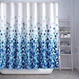 ARICHOMY Shower Curtain Set, Bathroom Fabric Curtains Waterproof Colorful Funny with Standard Size 72 by 72 (Blue)