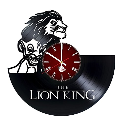 Disney The Lion King Vinyl Record Wall Clock - Get unique kitchen wall decor - Gift ideas for kids, boys, girls - Unique Disney Art - Leave us a feedback and win your custom clock