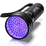 LOFTEK UV Flashlight Black Light, 51 LED 395 nM Ultraviolet Flashlight Perfect Detector for Pet (Dog and Cat) Urine, Dry Stains and Bed Bug, Handheld Blacklight for Scorpion Hunting