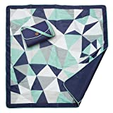 JJ Cole All-Purpose Outdoor Baby Blanket, Lightweight & Water-Resistant, Fractal, 5' x 5'