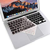 MOSISO Ultra Thin Keyboard Cover Protector Soft TPU Skin Compatible MacBook Pro 13/15 Inch (with/Without Retina Display, 2015 or Older Version) MacBook Air 13 Inch (Release 2010-2017), Rose Quartz