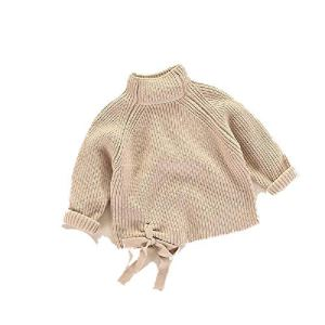 BCVHGD Girls Bow Sweaters Autumn Winter Baby Knitted Sweater Baby Girl Sweater Cute Toddler Coat Children Tops
