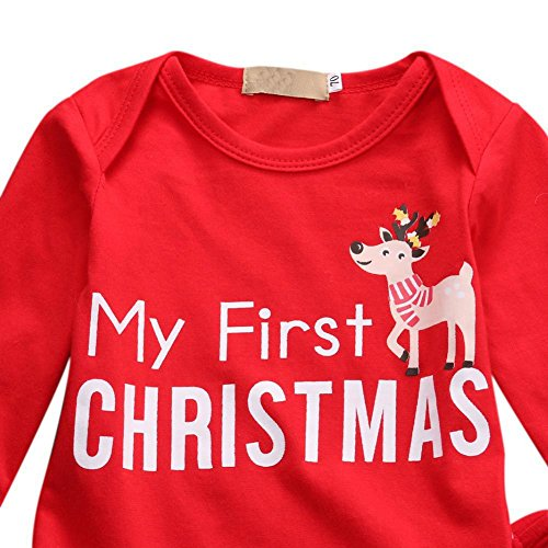 00534b6c0 BAOBAOLAI Xmas Outfits for Newborn Baby Girls Boys My First ...