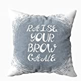 Musesh 18x18 Pillow Covers, with Your Can Be Used Beauty and Makeup Box Salon Bar Tattoo Blog BROW GAMEquot for brow Tshirt for Sofa Home Decorative Pillowcase Holiday Pillow Covers