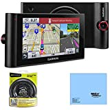 Garmin nuviCam LMTHD 6' GPS Navigation System with Built-in Dashcam, Maps & HD Traffic (010-01378-01) Bundle with Garmin Portable Friction Mount and Cleaning Cloth