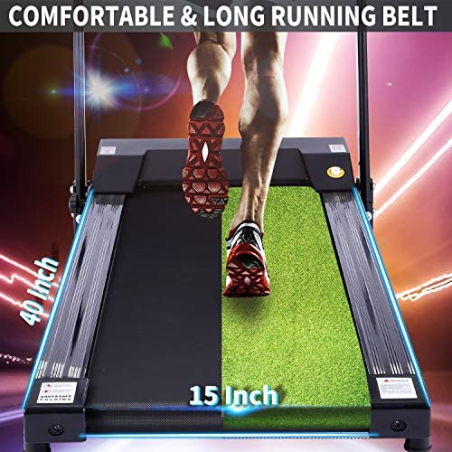 ANCHEER Folding Treadmill, Treadmills for Home with LCD Monitor Motorized,Pulse Grip and Safety Key,Top Indoor Exercise Machine Trainer Walking Running for Home & Office Workout 4