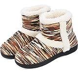 RockDove Women's Wool Lined Bootie Mukluk Slipper with Memory Foam (9-10 B(M) US, Beige)