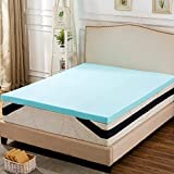 ANJ 3 Inch Gel Infused Memory Foam Mattress Topper Back to School, Queen