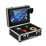 Eyoyo 9 Inch LCD Monitor Underwater Fishing Video Camera Fish Finder DVR Recording for Ice and Lake Fishing w/ 8GB TF Card HD 1000TVL Camera with 12 Adjustable White Light LEDs 50M Cable