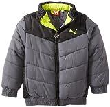 PUMA Little Boys' Toddler Boy Chevron Puffer Jacket