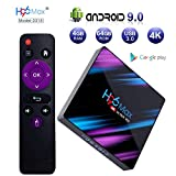 Android 9.0 TV Box, H96 MAX 4GB 64GB Android Box USB 3.0/BT 4.0/2.4G 5G Dual WiFi/3D/4K/H.265 KD18.1 Smart Android TV Box