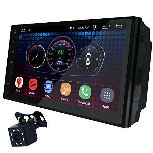 UGAR 7' Universal Car Stereo 1GB 16GB Android 6.0 Head Unit Double Din Touch Screen Radio Bluetooth WiFi Car Audio Indash GPS Navigation