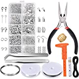 Paxcoo Jewelry Making Supplies Kit - Jewelry Repair Tool with Accessories Jewelry Pliers Jewelry Findings and Beading Wires for Adults and Beginners