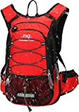 Mubasel Gear Insulated Hydration Backpack Pack with 2L BPA Free Bladder - Keeps Liquid Cool up to 4 Hours - for Running, Hiking, Cycling, Camping (Red)