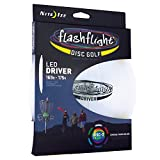 Nite Ize Flashflight LED Disc Golf Discs, Light Up The Dark for Night Play, Pro-Designed Driver with Disc-O Select Choose-Your-Color LED