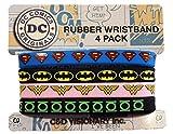 Licenses Products Dc Comics Originals 4 Mini Rubber Wristband Set