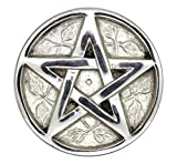 Govinda Pentagram Altar Brass with Silver Plating Tile,3-Inches