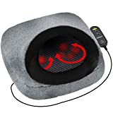 Shiatsu Foot and Back Massager with Soft Fabric Outer Shell by Gideon Transforms into a Seat Back Massager Via The Dual Purpose Convertible Design Adds More Comfort with The Cozy Foot and Toe Warmer