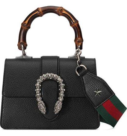 Gucci-Dionysus-Black-Mini-Leather-Satchel-Strap-Web-Italy-New-Bag-Handbag-Star