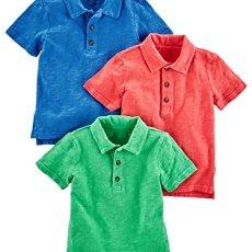 Simple Joys by Carter's Toddler Boys' 3-Pack Short Sleeve Polo