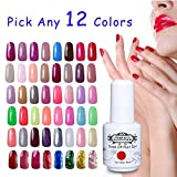 Perfect Summer Gel Nail Polish - Pick Any 12 Colours Gel Varnish UV LED Manicure Soak Off Nail Starter Kits 8ML 300 Colours Available