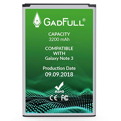 GadFull Battery Compatible with Samsung Galaxy Note 3 | 2018 Production Date | Corresponds to The Original EB-B800BE | Compatible with Galaxy Note 3 GT-N9000 | GT-N9005 | GT-N 9006 |GT-N9009