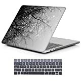 MacBook Pro 13 Case 2018 2017 2016 Release A1989/A1706/A1708, iCasso Hard Case Shell and Keyboard Cover for Apple New MacBook Pro 13' with/Without Touch Bar and Touch ID,Gray Tree
