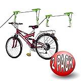 2011 Bike Lane Bicycle Storage Lift Bike Hoist 100LB Capacity Heavy Duty 2 Pack