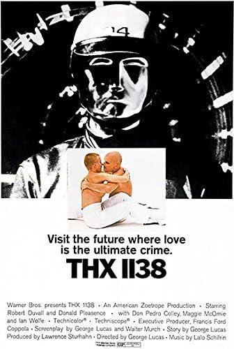 Amazon.com: THX 1138 – 1971 – Póster de la película: Home & Kitchen