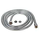 Purelux 100 Inch (8'4') Extra Long Shower Hose for Handheld Shower Head with Brass Fittings, 8 feet 4 inches Made of Stainless Steel Chrome Finish