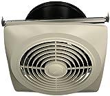 Broan 504 Vertical Discharge Utility Fan, 10-Inch 350 CFM 6.5 Sones, White Plastic Grille
