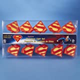 Set of 10 Red and Yellow Superman Novelty Christmas Lights - Green Wire
