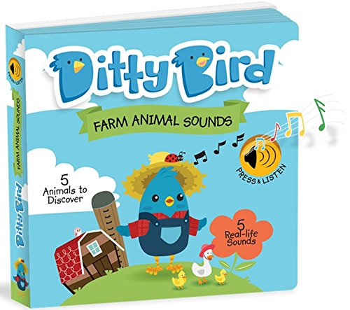 Ditty Bird Educational Interactive Farm Animal Sounds and Musical Rhyme Book for Babies. Noisy Farm Toys for one Year Old. Farm Animal Learning Sounds Book for Toddlers. 1 Year Old boy Girl Gifts