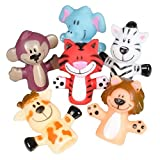Kicko Animal Finger Puppets - 12 Per Package - Fun...