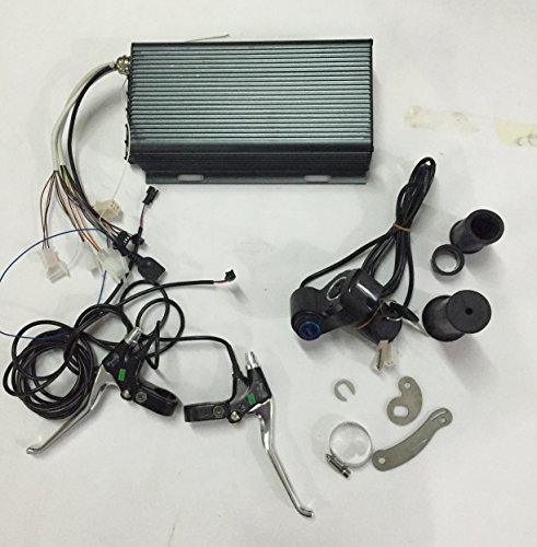 48V 60V 72V 96V 5000W Sabvoton Sine Wave Programmable Controller + LED voltage display Twist Throttle with Electric Switch +Brake Lever+ Torque arm for 48-96V 5000W Electric Bicycle Motor/E-bike Kit