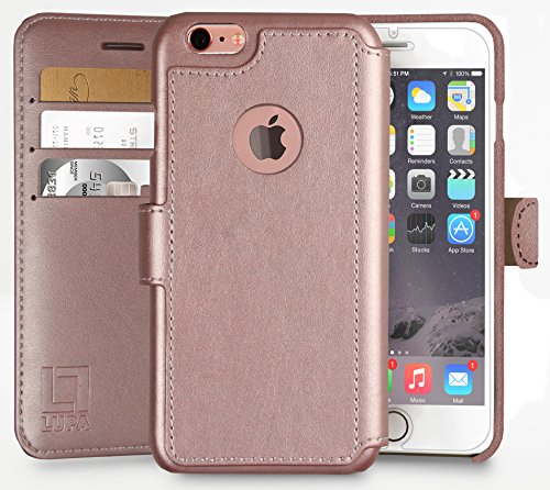 iPhone 6 Plus,6S Plus Wallet Case | Durable & Slim | Lightweight, Classic Design & Ultra-Strong Magnetic Closure | Faux Leather | Rose Gold | Apple iPhone 6S Plus (2015) & iPhone 6 Plus (2014) (5.5in)