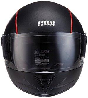 Studds Premium Vent Professional Full Face Helmet (Black and Red, Large)