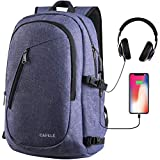 Laptop Backpacks, Anti Theft Water Resistant College Student School Bookbag with USB Port, Slim Lightweight Business Backpack, Carry On Daypack for Work Travel Campus Fit 15.6' Computer Light Purple