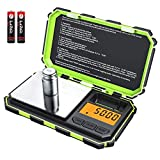 (2019 NEW) Brifit Digital Mini Scale, 200g /0.01g Pocket Scale, 50g calibration weight, Electronic Smart Scale, 6 Units, LCD Backlit Display, Tare, Auto Off, Stainless Steel (Battery Included)