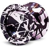Sidekick Yoyo Pro Black & Silver Reverse Splashes Responsive Professional Yo-Yo