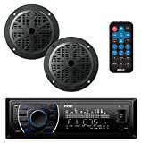 Pyle Marine Headunit Receiver Speaker Kit - In-Dash LCD Digital Stereo...
