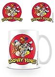 Looney Tunes - Ceramic Coffee Mug / Cup (The Cast / Logo)