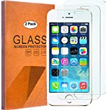 [2 Pack] iPhone SE/ 5S/ 5C/ 5 Screen Protector, FOLICE [9H Hardness] [Bubble Free][Anti-Scratch] Tempered Glass Tempered Glass with Lifetime Replacement Warranty (2 Pack)