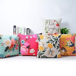 AEROHAVEN Set of 5 Designer Decorative Throw Pillow/Cushion Covers – CC122 – (16 inch x 16 inch, Multicolour)